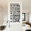 Sticker texte In This House Stickers Texte et Citations Gali Art