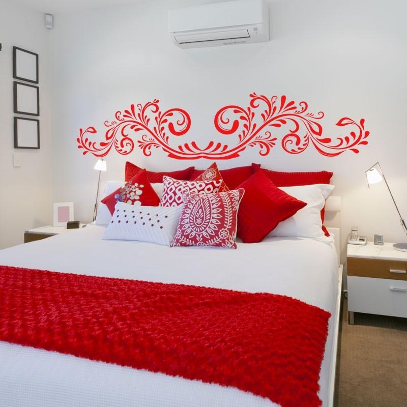 sticker t te de lit arabesque d coration chambre coucher design. Black Bedroom Furniture Sets. Home Design Ideas