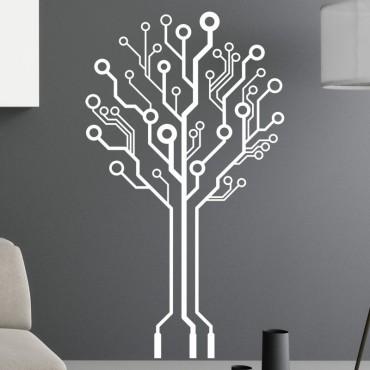 Sticker Arbre à Connexion Design