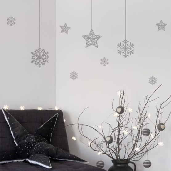 Stickers de Noël suspendus