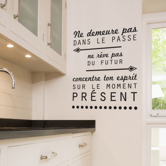 Stickers muraux sticker citation du bouddha d coration - Stickers pour cuisine decoration ...