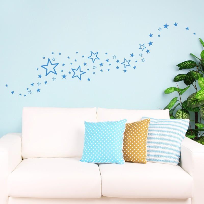 60 stickers etoiles design d coration chambre enfant. Black Bedroom Furniture Sets. Home Design Ideas