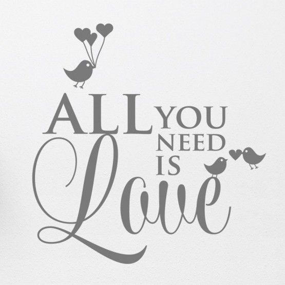 Sticker All you need is Love Stickers Amour Gali Art