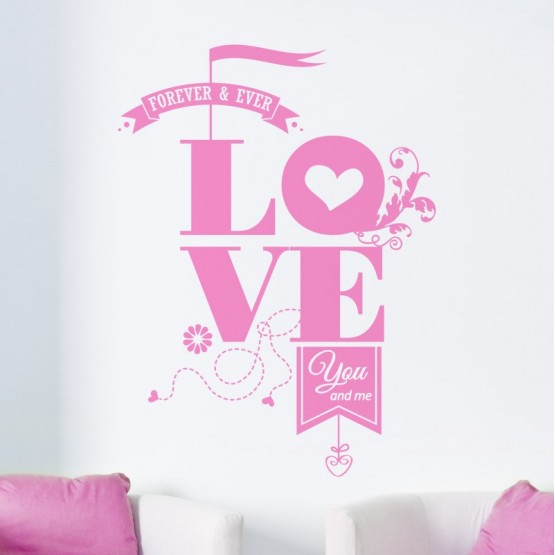 Sticker Love Forever & Ever Stickers Texte et Citations