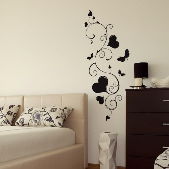 Sticker Arabesque Coeurs et Papillons