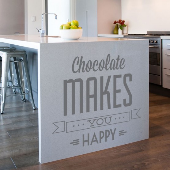 Sticker Chocolate makes you happy Stickers Cuisine Gali Art