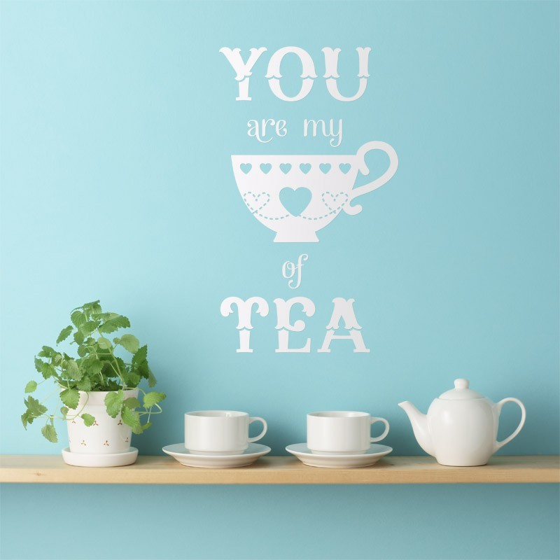 stickers muraux sticker you are my cup of tea d coration cuisine design. Black Bedroom Furniture Sets. Home Design Ideas