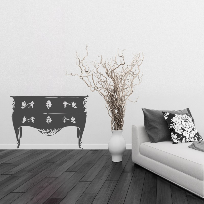 Sticker commode style baroque d coration chambre baroque - Stickers baroque pour meuble ...