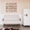 Sticker Texte Le chocolat