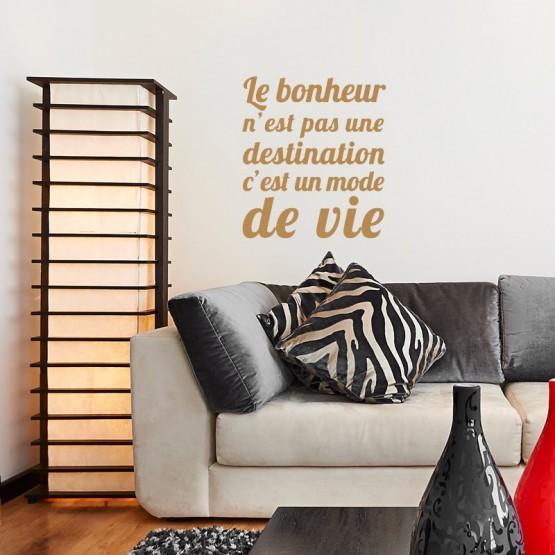 Sticker Le Bonheur est un mode de vie Stickers Texte et Citations Gali Art