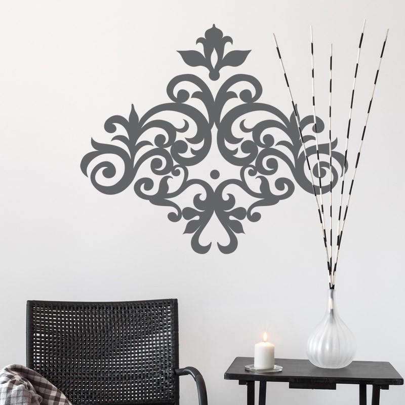 Sticker arabesque glamour pour une d coration style - Stickers baroque pour meuble ...