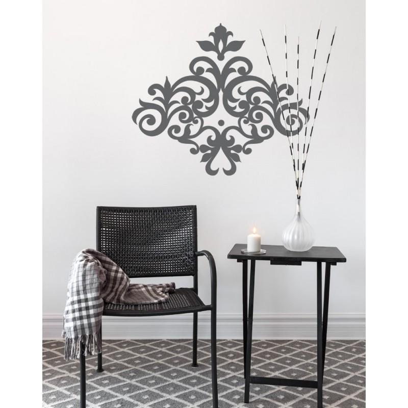 sticker arabesque glamour pour une d coration style baroque moderne. Black Bedroom Furniture Sets. Home Design Ideas