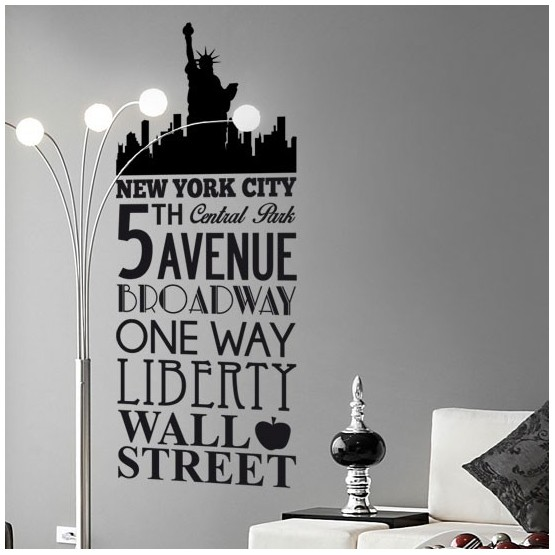 Sticker New York - 5th Avenue Stickers Texte et Citations Gali Art