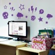Kit de Stickers Punk Rock Stickers Chambres Enfants