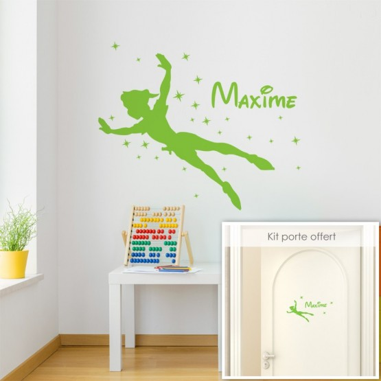 Sticker Peter Pan avec Prénom Stickers Chambres Enfants Gali Art