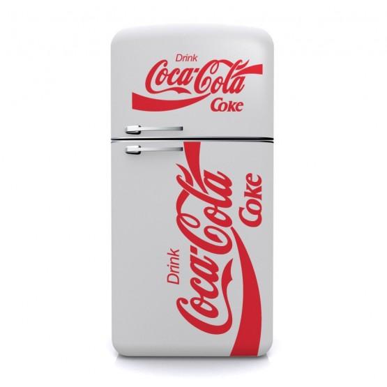 sticker coca cola coke d coration cuisine vintage d co frigo. Black Bedroom Furniture Sets. Home Design Ideas
