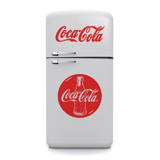 sticker bouteille coca cola d coration cuisine vintage. Black Bedroom Furniture Sets. Home Design Ideas