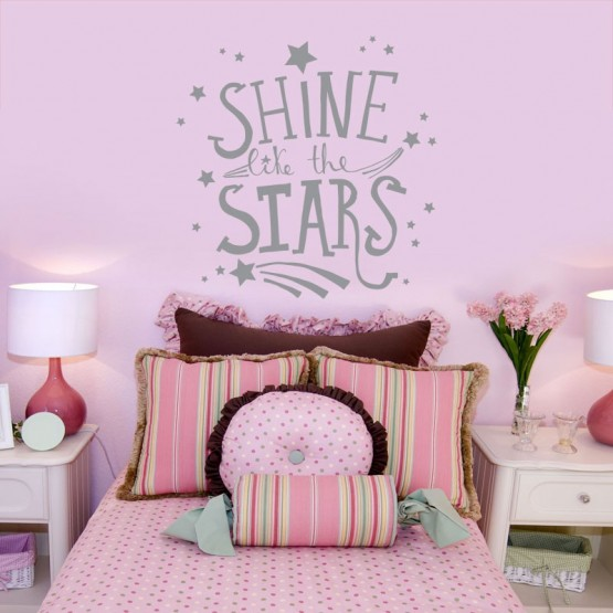 Sticker Shine like the stars Stickers Chambres Enfants Gali Art