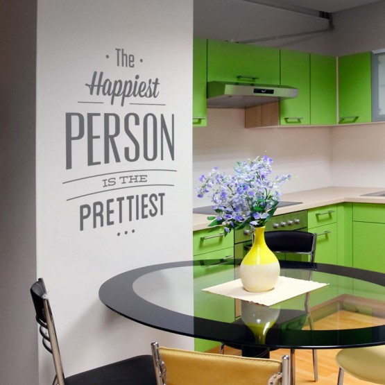 Sticker The Happiest Person Stickers Texte et Citations Gali Art