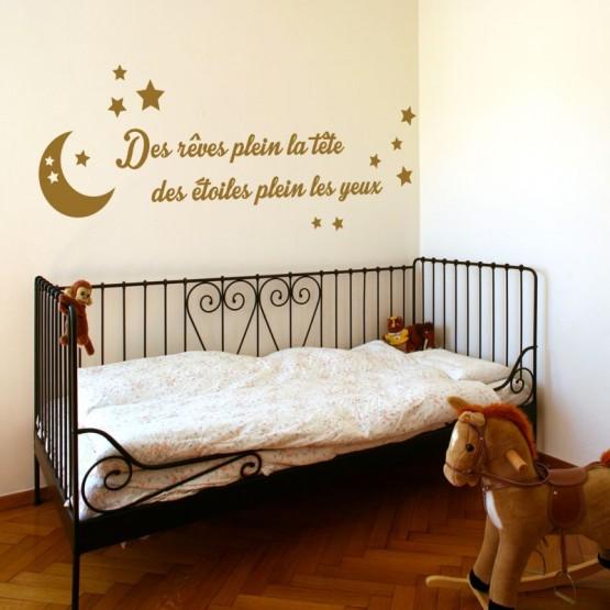 Des rêves plein la tête Stickers Chambres Enfants Gali Art