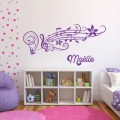 Prénom musical Stickers Chambres Enfants Gali Art