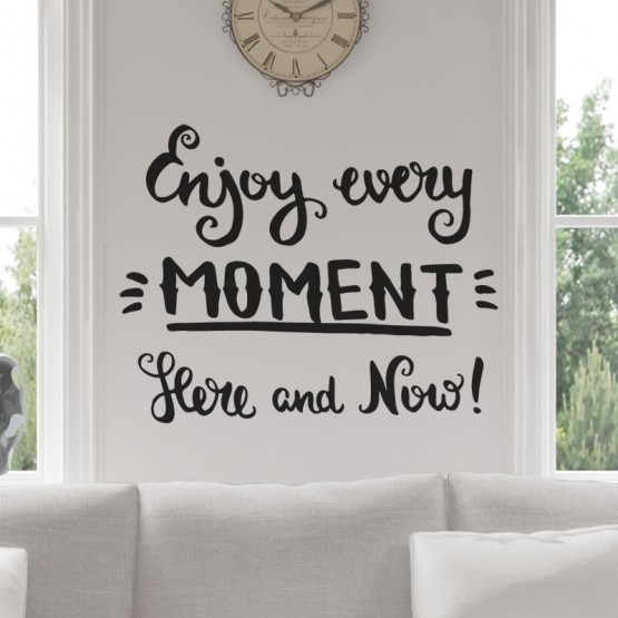 Sticker Enjoy every moment Stickers Texte et Citations Gali Art