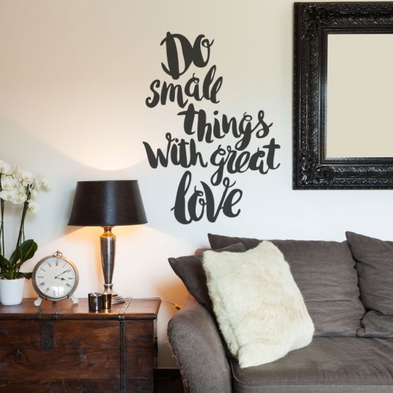 Sticker Do small things with great love
