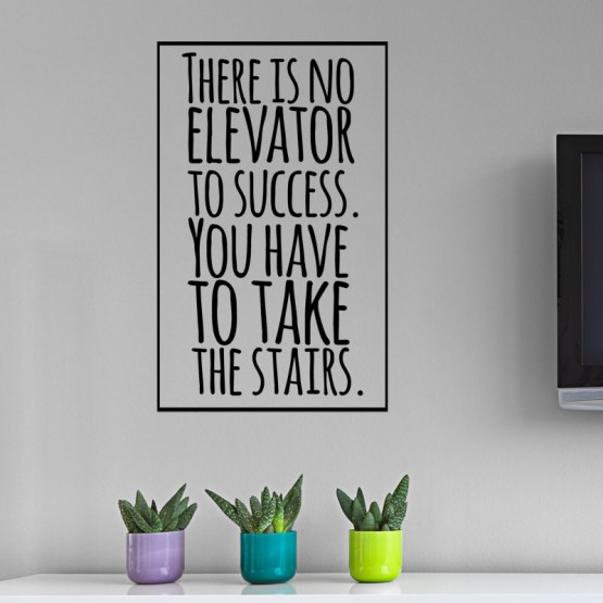 Sticker Elevator to Success Stickers Texte et Citations