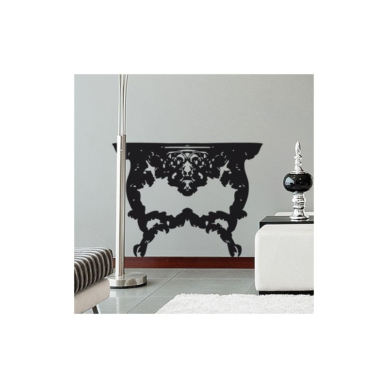 sticker console style baroque d coration de chambre. Black Bedroom Furniture Sets. Home Design Ideas