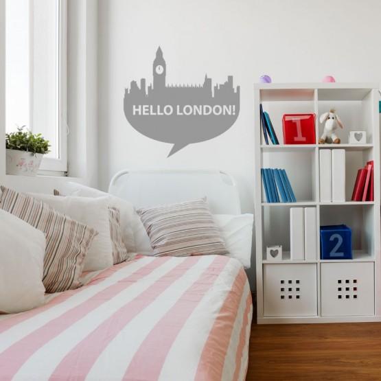 Sticker Hello London Stickers Voyage Gali Art
