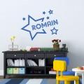 Sticker prénom dans les étoiles Stickers Chambres Enfants Gali Art