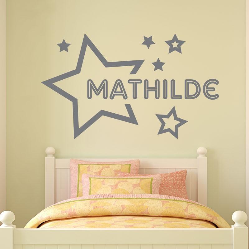 sticker pr nom dans les toiles d coration murale personnalis pour enfant. Black Bedroom Furniture Sets. Home Design Ideas