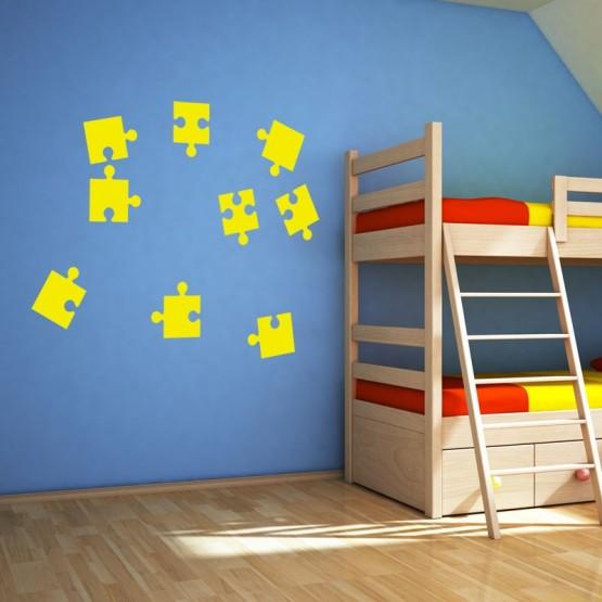 Stickers pièces de puzzle Stickers Chambres Enfants