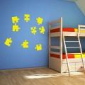 Stickers pièces de puzzle
