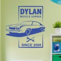 Sticker Garage personnalisé Stickers Chambres Enfants Gali Art