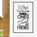 Sticker Texte Best Wines Stickers Texte et Citations Gali Art