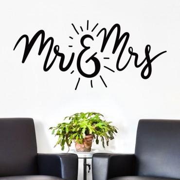 Sticker Mr & Mrs