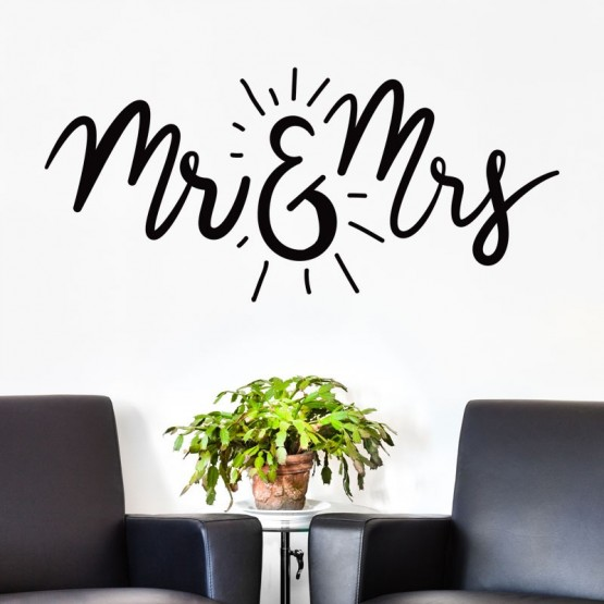 Sticker Mr & Mrs Stickers Amour Gali Art