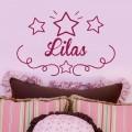 Sticker Prénom avec décor étoiles Stickers Chambres Enfants Gali Art