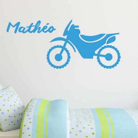 Sticker Moto avec Prénom Stickers Chambres Enfants Gali Art