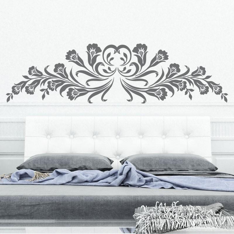 sticker t te de lit lily d coration chambre adulte. Black Bedroom Furniture Sets. Home Design Ideas