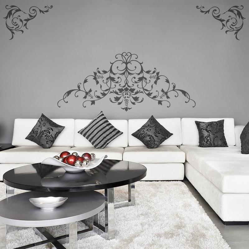 ensemble de 3 stickers muraux baroque d coration baroque moderne. Black Bedroom Furniture Sets. Home Design Ideas