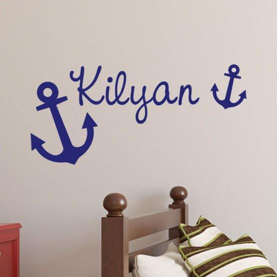 Sticker pr nom marin d coration chambre enfant personnalis th me autique gali - Chambre enfant marin ...
