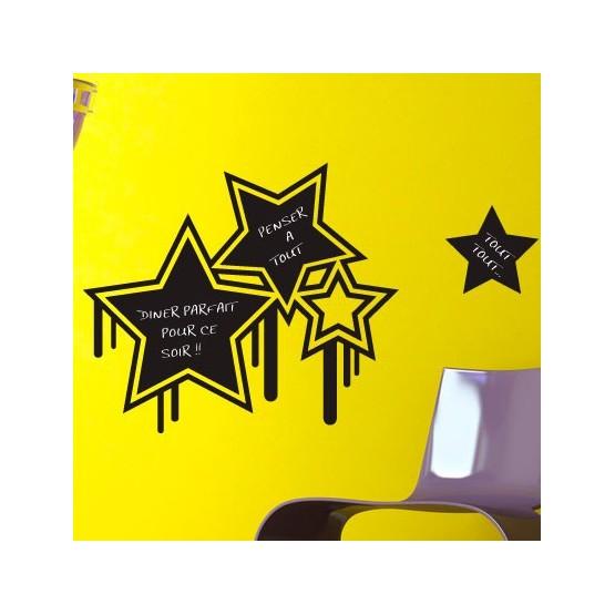 Sticker Ardoise Etoiles Grunge
