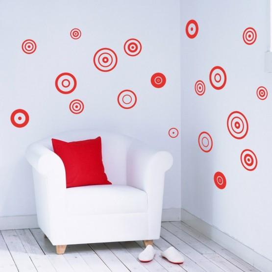 Kit de 20 Stickers Cercles POP Stickers Graphiques Gali Art