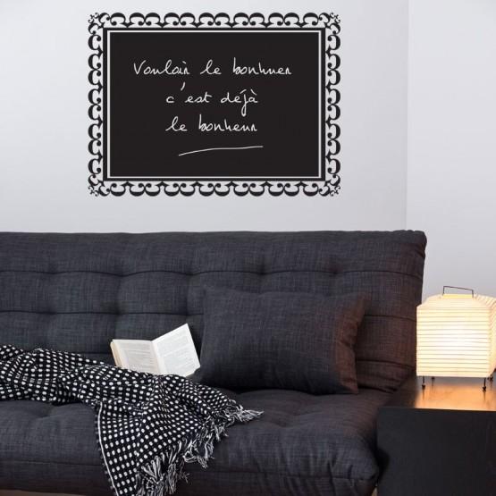 sticker ardoise cadre baroque d coration style baroque. Black Bedroom Furniture Sets. Home Design Ideas