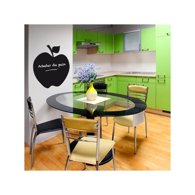 stickers cuisine sticker ardoise pomme d coration design. Black Bedroom Furniture Sets. Home Design Ideas