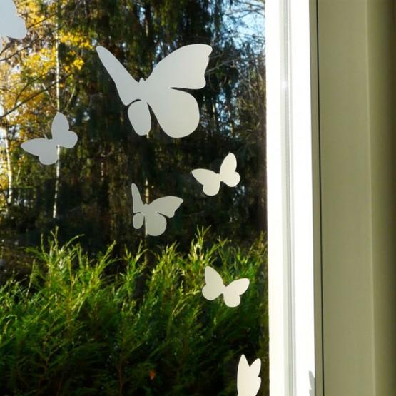 Kit de Stickers Dépoli Givré Envol de Papillons Stickers Dépolis Décoratif Gali Art