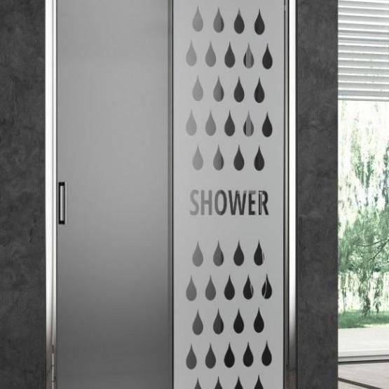 Depoli douche gouttes Shower Stickers Occultant Paroi de douche