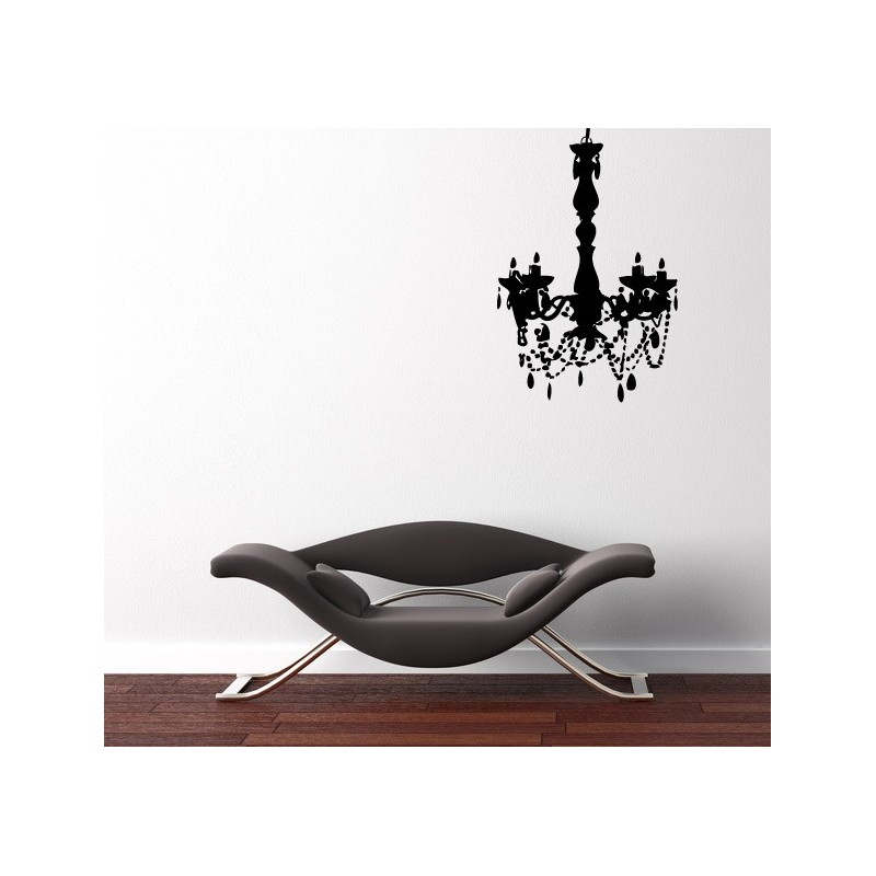 sticker lustre pampilles style baroque stickers muraux. Black Bedroom Furniture Sets. Home Design Ideas